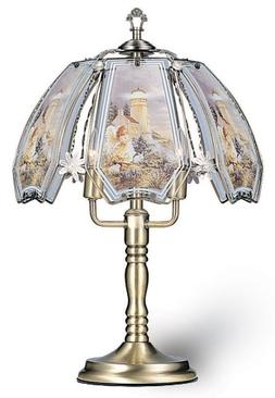 ORE International K301 Glass Lighthouse Scene Touch Lamp, An