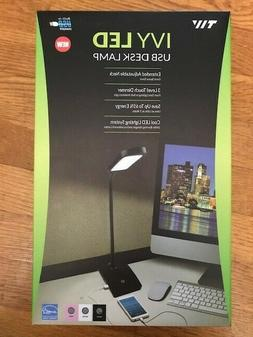 TW Lighting IVY-40WT The IVY LED Desk Lamp with USB Port, 3-