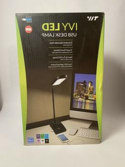 TW Lighting IVY LED Desk Lamp with USB Port, 3-Way Touch Swi