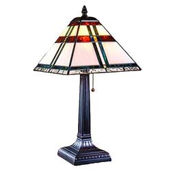 J Devlin Lam 690 TB Tiffany Stained Glass Mission Table Lamp