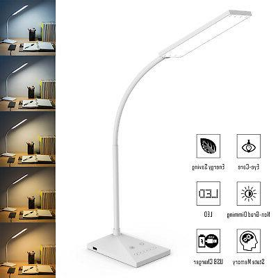 12W 7 LED Touch Sensor Flexible Table Lamp 390lm+Power