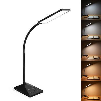 12W LED Desk Lamp Flexible Touch Sensor 5 Mode Reading Lamp