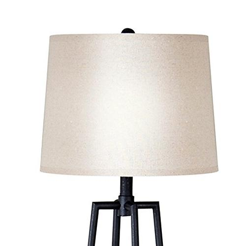Catalina 21405-000 Distressed Iron Floor Lamp Ivory and 3-Way New