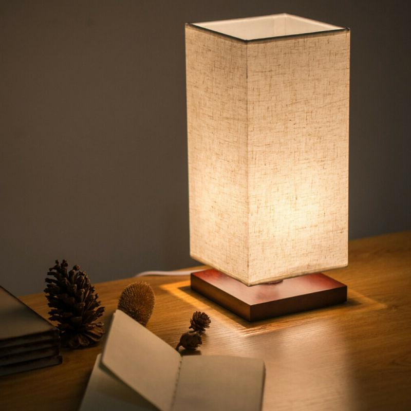 Minimalist Bedside Fabric Shade Light US