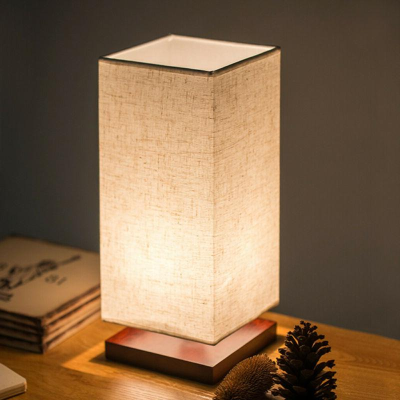 Minimalist Lamp Fabric Wood Light for US