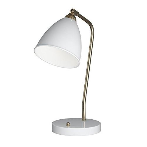 "Adesso Desk Lamp, Outlet 16""-21"", White"
