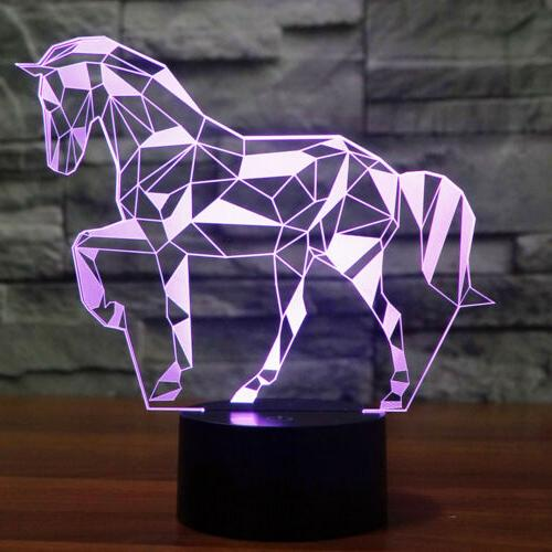 3D Horse Illusio Night Light ,16 Color Change,LED room