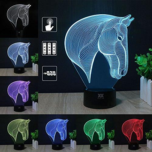 3d illusion animal horse head