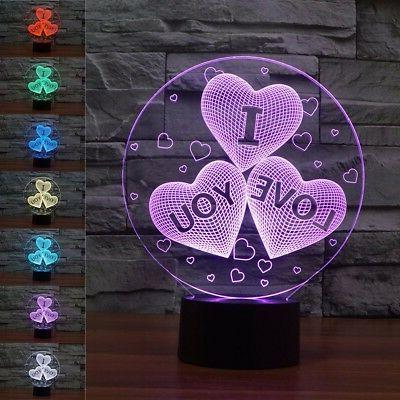 3D Night Light Colors LED Desk Home Decor