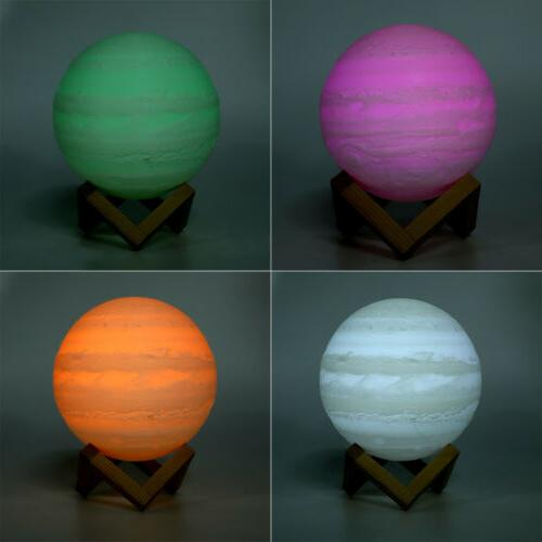 3D LED Magical Night Light Moonlight Table Desk Lamp Touch W/Remote
