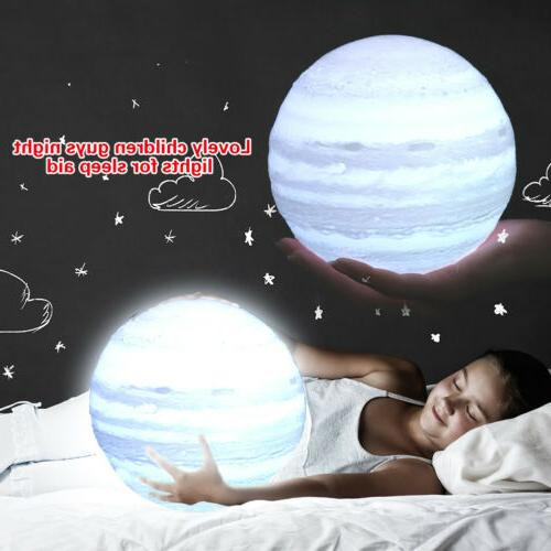 3D LED Magical Night Light Desk Lamp Touch W/Remote