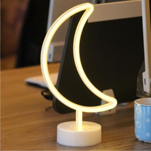 3D LED Night Light Remote Control Table Sign