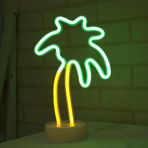 3D Night Light Remote Control Table Lamp Neon Sign