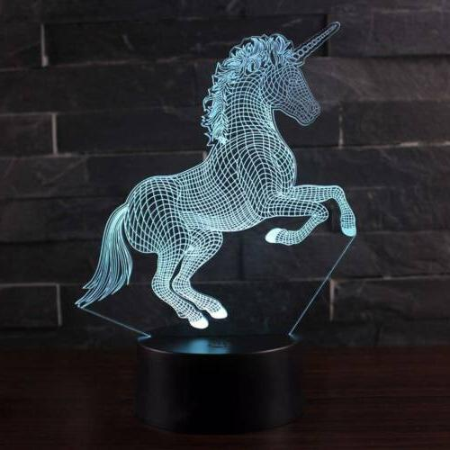 3D LED Night Lamp Home Decoration Remote Control