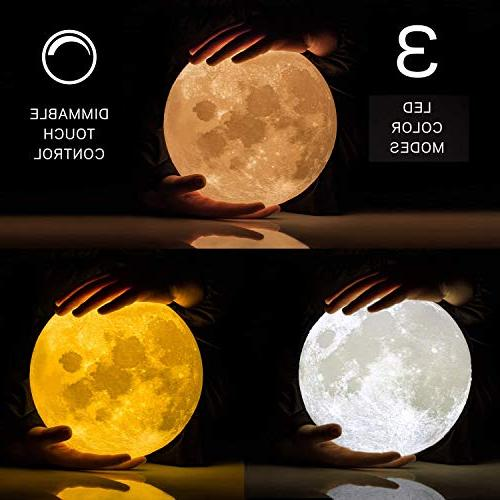 Moon Light Lamp Night Light, Changing, Touch LED Moonlight Bedrooms, Kid Teens