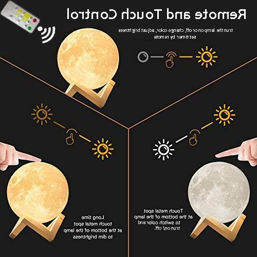 Moon Light Lamp Baby Night Color Changing, Battery LED Lamps for Bedrooms, Father's Day Gifts, Cool Gifts Kid