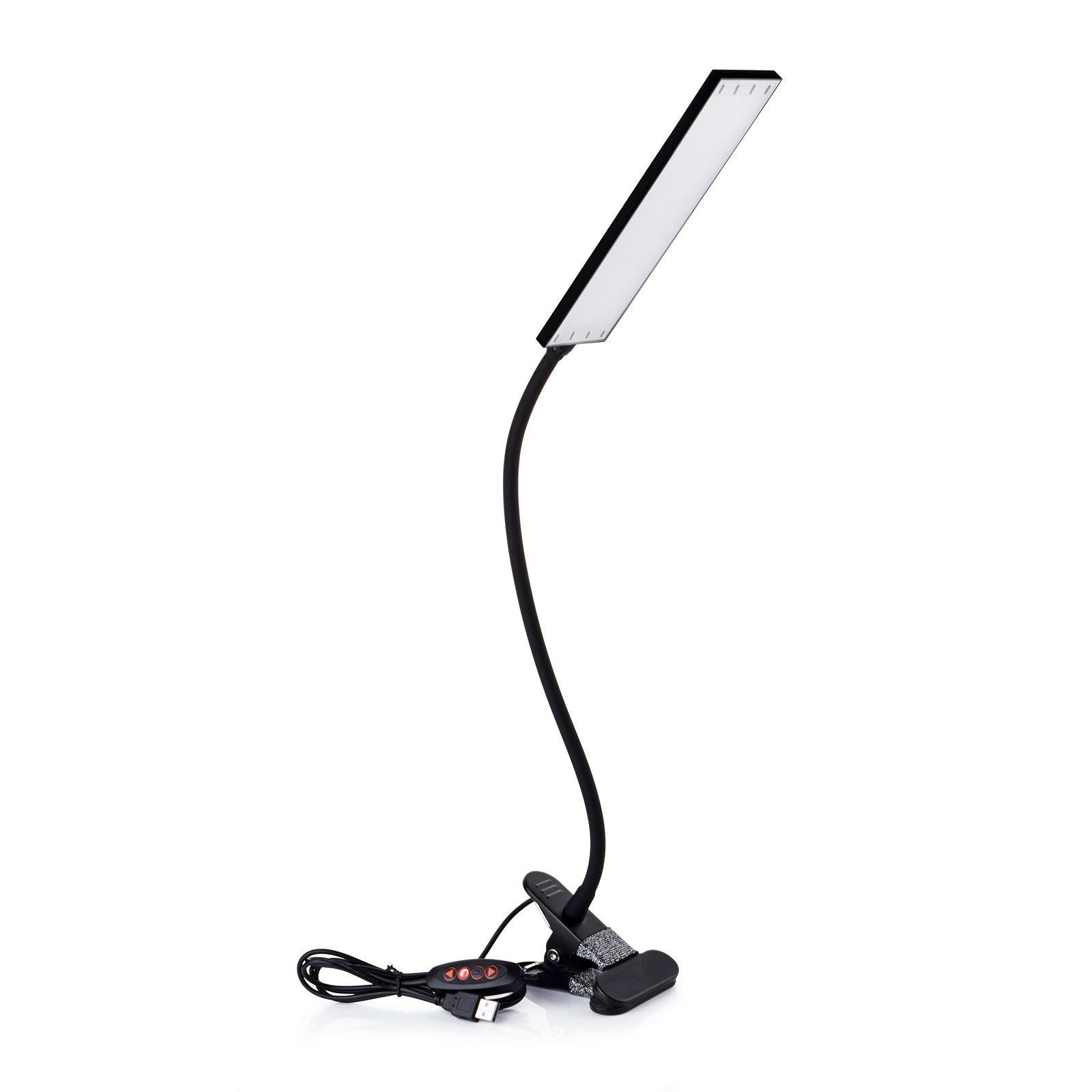 5W Clip-On Lamp 48 Flexible Reading light Table