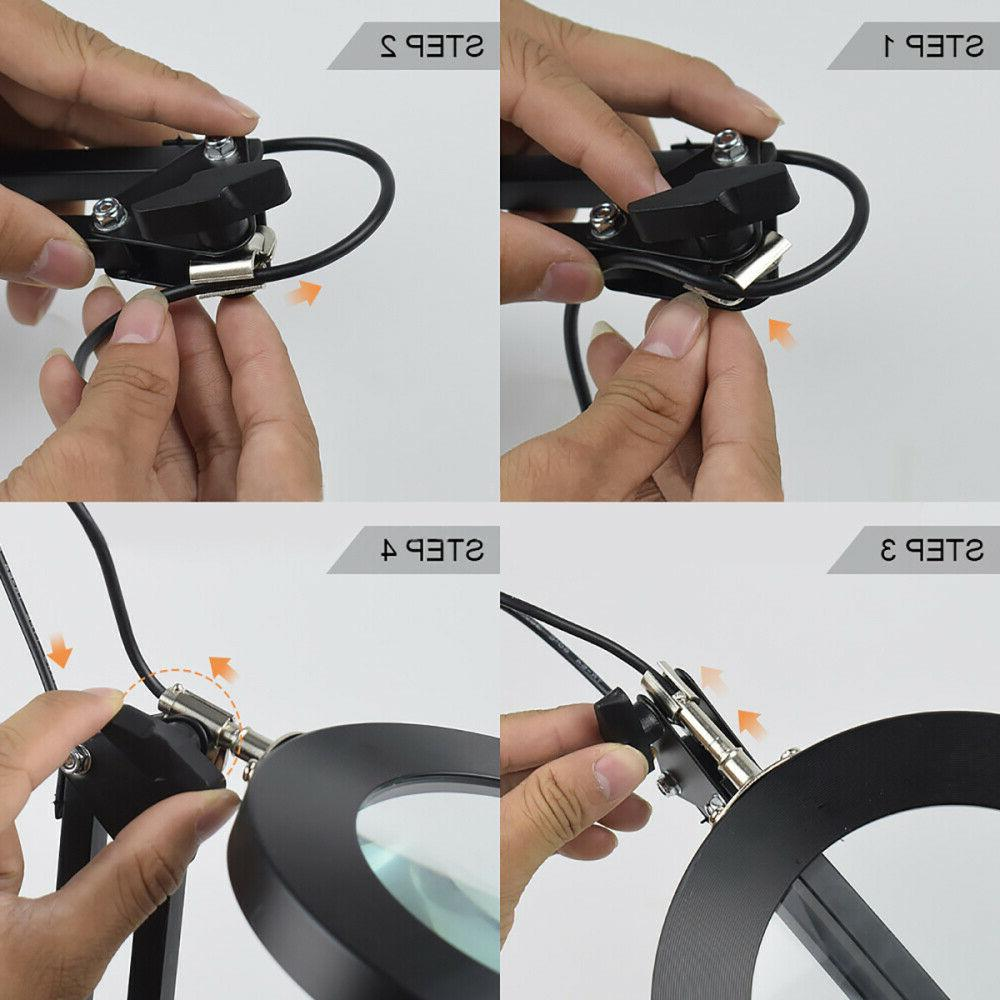 5X Magnification Magnifying Lamp Desk Clamp