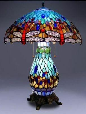 Tiffany-style Dragonfly Lighted Base