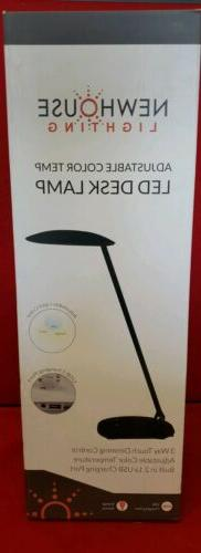 Newhouse Lighting Adj Color Temp LED Desk Lamp w/Dimmer & US
