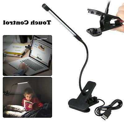 adjustable usb led reading studying light clip