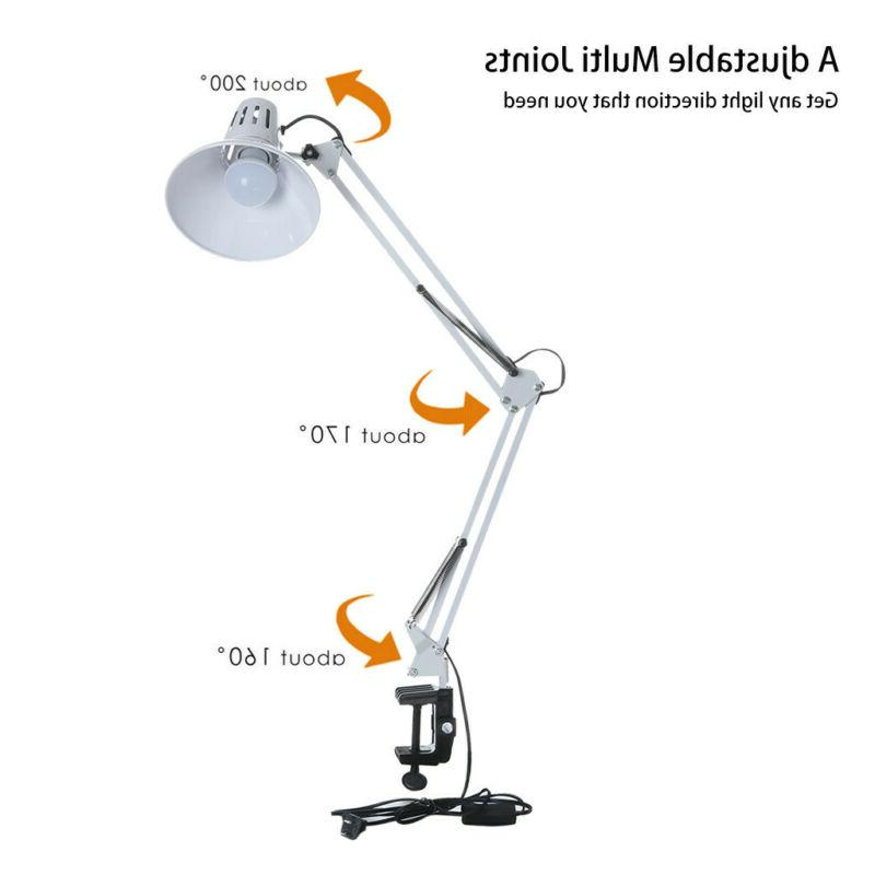 LE Swing Arm Lamp C-Clamp Architect Clamp-on Light