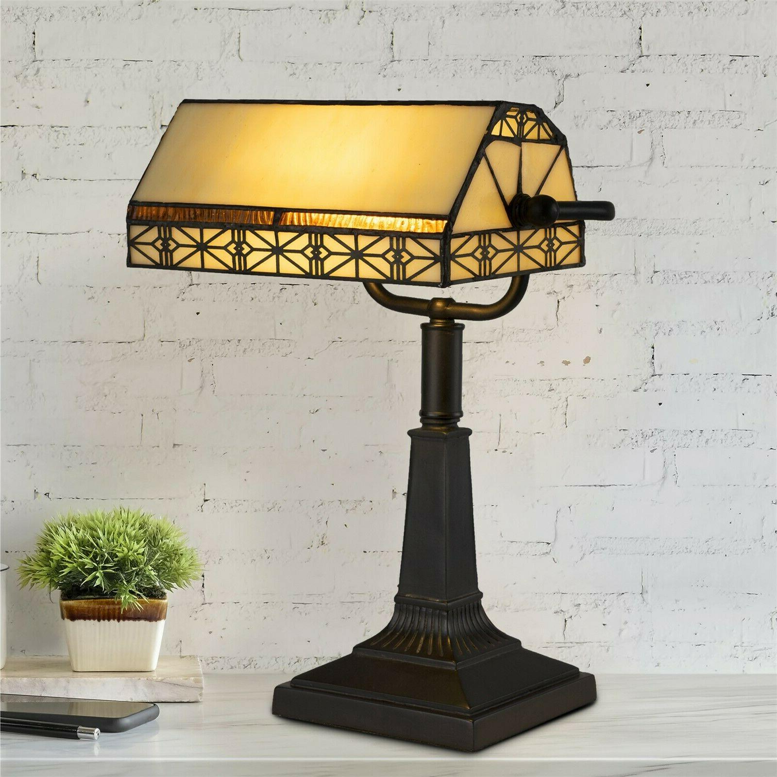 bankers lamp tiffany table desk lamp stained