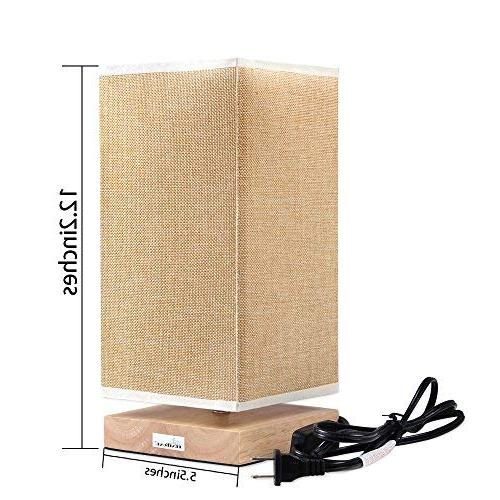 HAITRAL Lamp, Lamps for Bedroom Retro Style and Fabric Nightstand Lamp