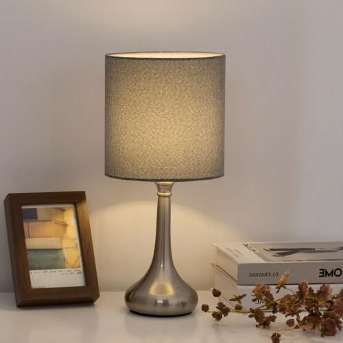 HAITRAL Bedside Set of Lamps ,Fabric