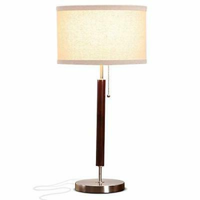 Brightech Carter LED Side Table, Nightstand & Desk Lamp - Cl