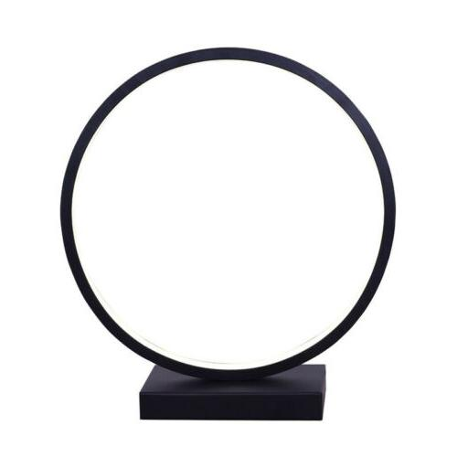 Circle Desk Lamp with Contemporary Design Stylish Plug