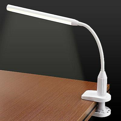 TORCHSTAR LED Clamp Desk Lamp USB Charger Fully Dimmable Whi