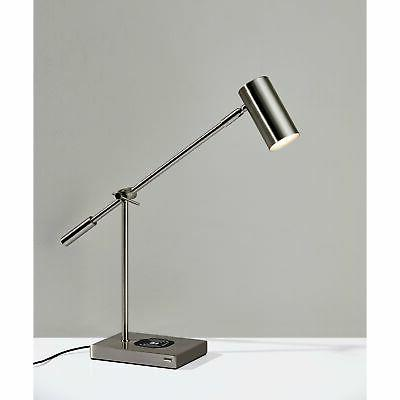 collette led desk lamp with charge wireless