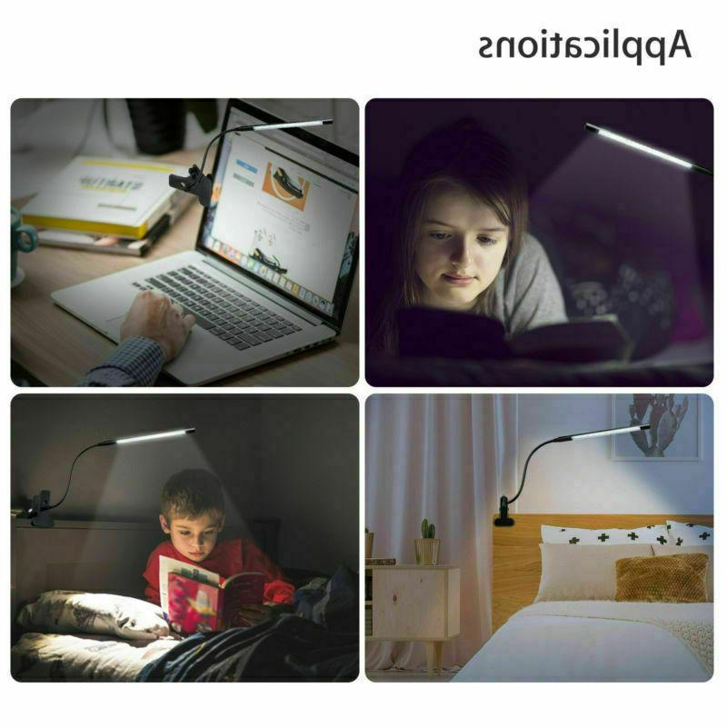 Convenient LED Reading Studying Switch Clamp Table Desk