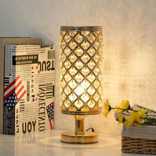 Crystal  Bedside Table Lamp Nightstand Desk Reading Lamp Bed