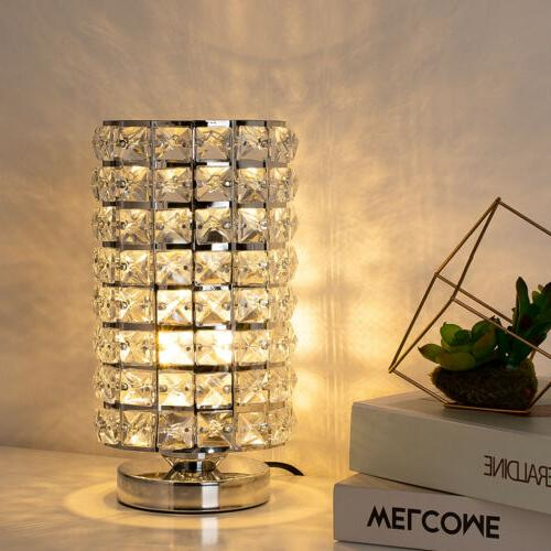 Crystal Table Lamp Set of Bedside Night Decoration