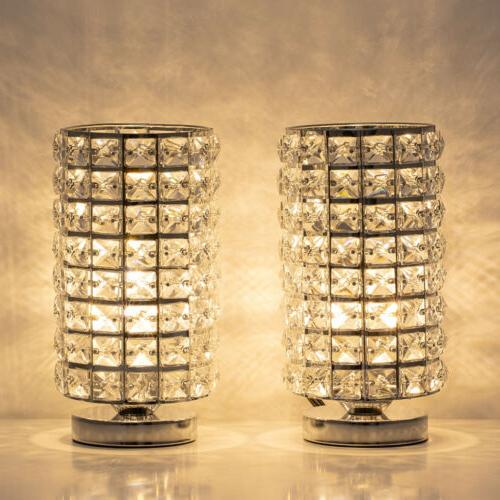 crystal table desk lamp set of 2