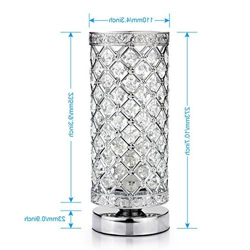 Crystal Control Lamp Bedside Modern Light Shade Night Light Fixture for Kitchen, by Seaside