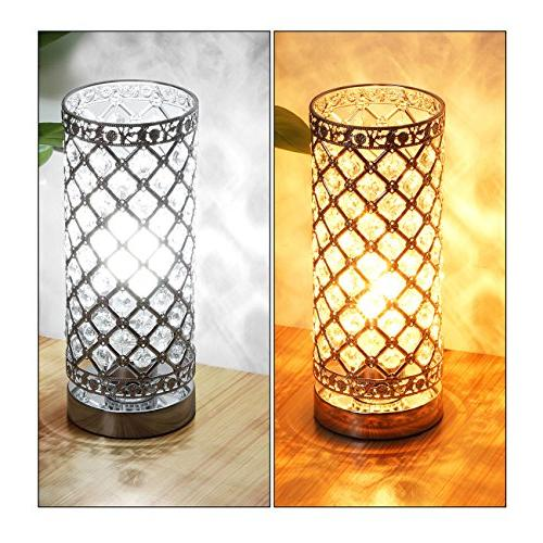 Crystal Table Touch Control Lamp Bedside Modern Light Lamp Shade Fixture for Kitchen, by