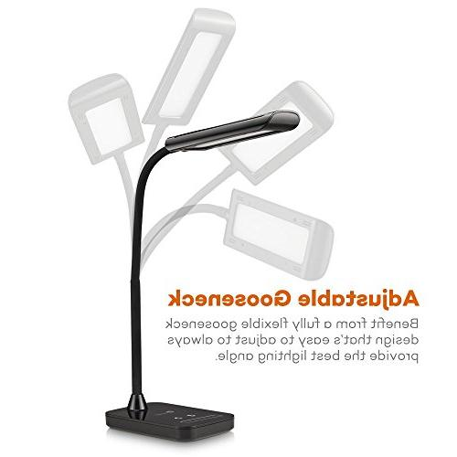 TaoTronics LED Desk Lamp, Flexible Gooseneck Table Lamp