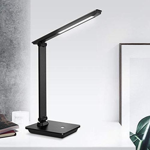 Brushed Lamp, lamp, Portable, Eye-Caring Desk Lamp, Brightness Office lamp, No Bulb Replace Needed for