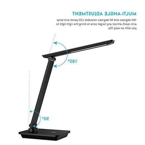 Brushed Surface Lamp, Wellnest lamp, Portable, Eye-Caring Desk Lamp, Adjustable Brightness Leve Office Touch Control, No Needed for