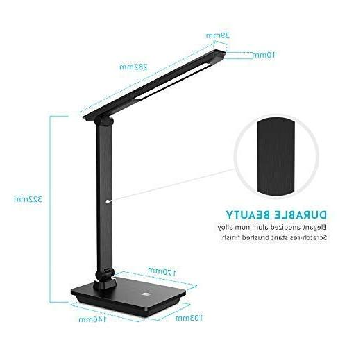 Brushed Surface LED Lamp, Rechargeable Lamp, Adjustable Office No Lighting Bulb Replace Needed 5 Years.