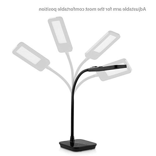 Aglaia Desk Lamp, Eye-Care Dimmable Reading Lamp, 6 Level Dimmer, Timer, Flexible for Study