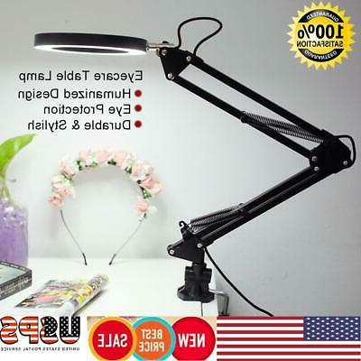 desk lamp flexible swing arm clamp mount