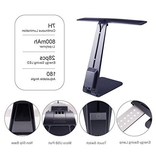 LED Lamp Lamp,Portable Light USB Charging Port,Touch 3 Modes