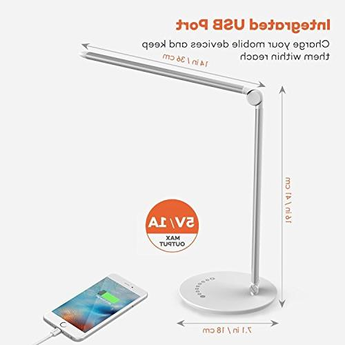 BaPao LED Desk Lamp Eye-Caring Dimmable Table Anti-Glare with 7 Unique 7 Brightness Levels Special Function