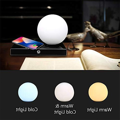 SUNPIN Desk Lamp Control, Color Temperature with Brightness Level, Dimmable Eye-Care Ambience Lighting/Bedside USB Smart Charging Port