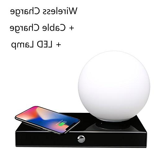 SUNPIN Desk Control, 3 Color Temperature with Dimmable Eye-Care Table Ambience Lighting/Bedside Smart Charging