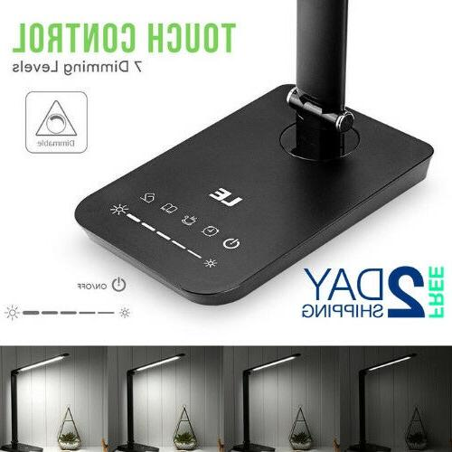 Desk With Power Outlet Touch Control Modern Office
